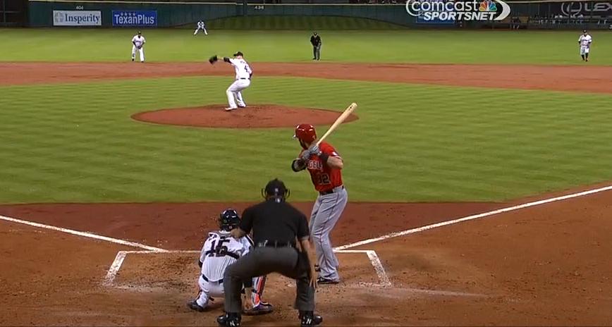 Screengrab of Josh Hamilton at-bat