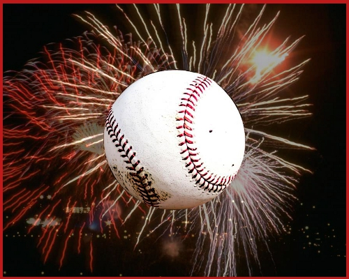 Image result for baseball fireworks
