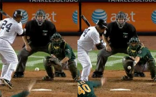 Cano ball four catcher glove position