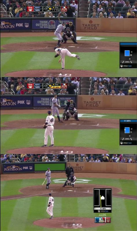 Screencaps of Lance Berkman's at-bat.