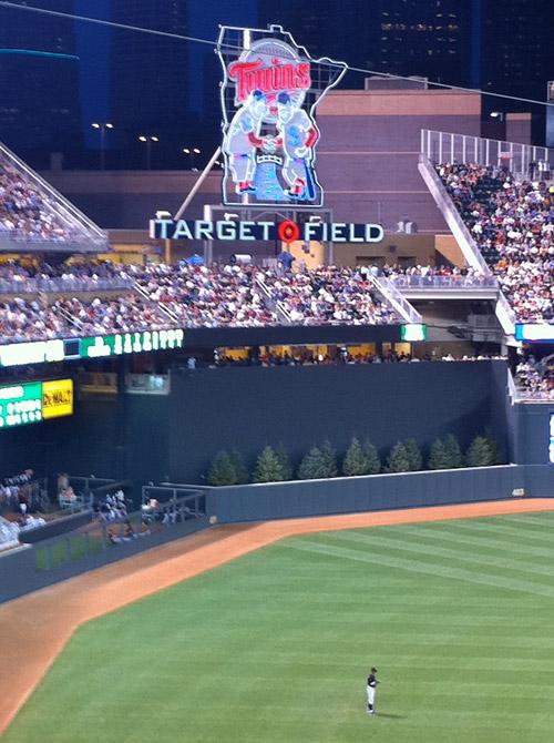 target field logo. A Trip to Target Field